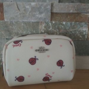 Mini coach Lady bug pring cosmetic